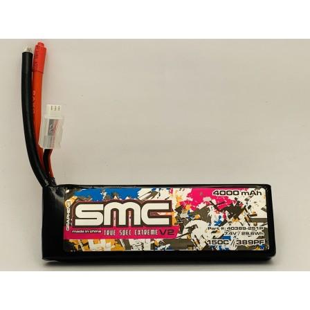 True Spec Extreme Graphene V2 7.4V-4000mAh-150C Softcase Drag Racing pack