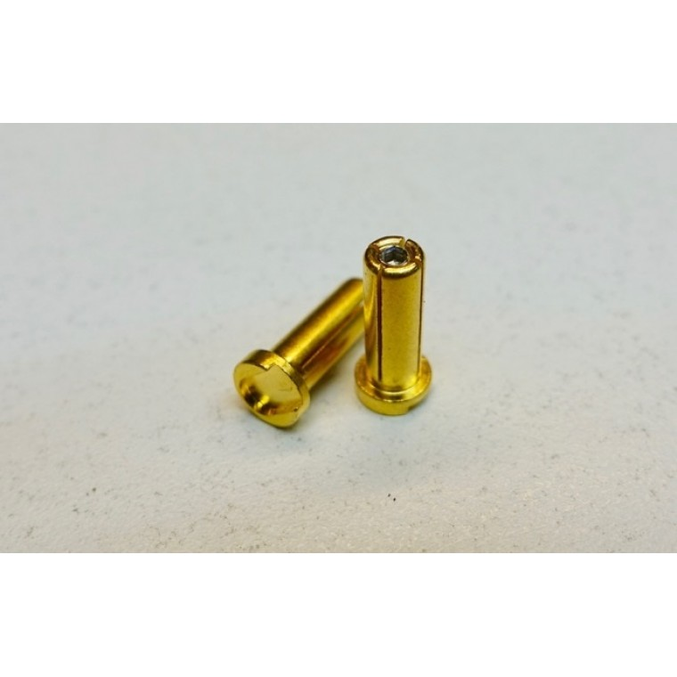 5mm gold plated pure copper adjustable connectors