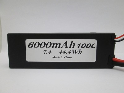 7.4V 6000mAh 100C Hardcase wired