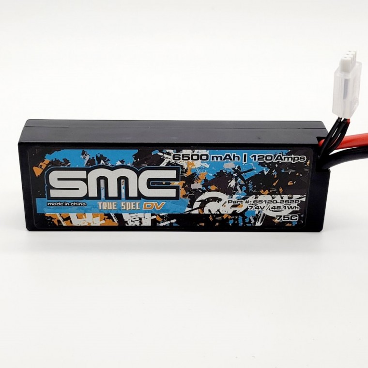 True Spec DV 7.4V 6500mAh 120Amps/75C  wired hardcase
