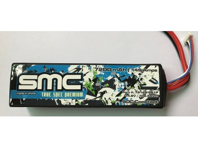 True Spec Premium 11.1V 7200mAh 149Amps/90C with G10 plates