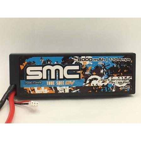 True Spec DV 7.4V 8000mAh 110Amps/75C  wired hardcase