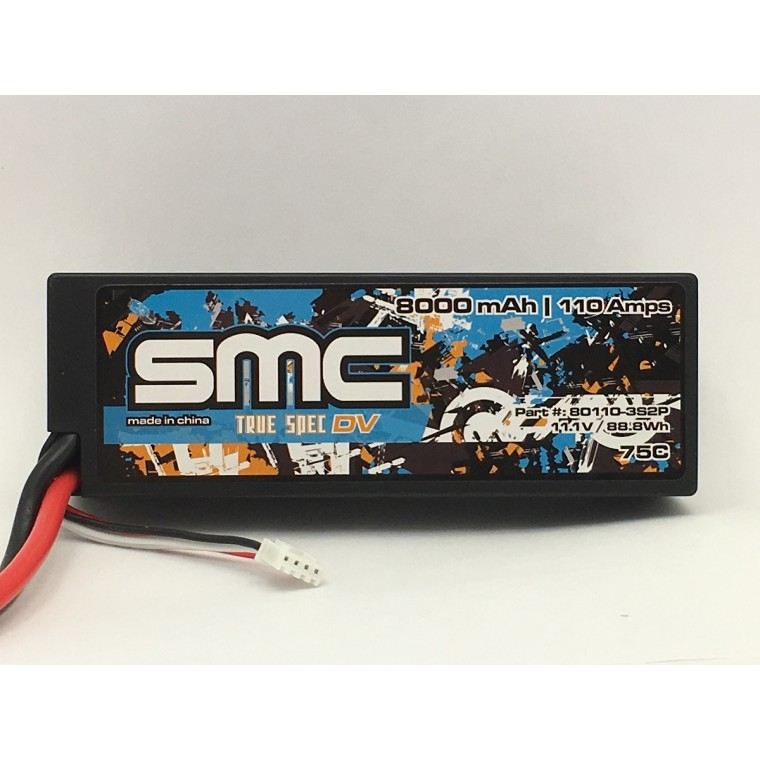 True Spec DV 11.1V 8000mAh 110Amps/75C  wired hardcase