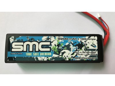 True Spec Premium 14.8V 9200mAh 186Amps/90C with G10 plates